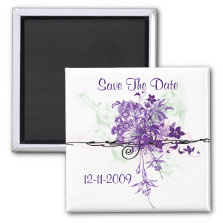 Bouquet Abstract Save The Date Magnet Square