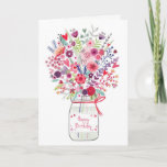 "Bouquet Birthday Card<br><div class=""desc"">Birthday Drinks Card</div>"
