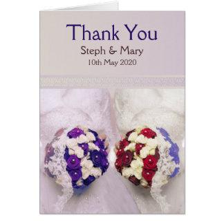 Bouquet Brides Card: Lesbian Wedding Thank You Card