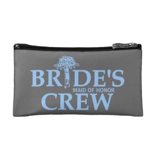 Bouquet Bride's Crew Cosmetic Bags