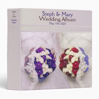 Bouquet Brides Lesbian Wedding Album Gift Vinyl Binder