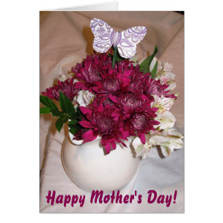 Bouquet & Butterfly Mother's Day Card