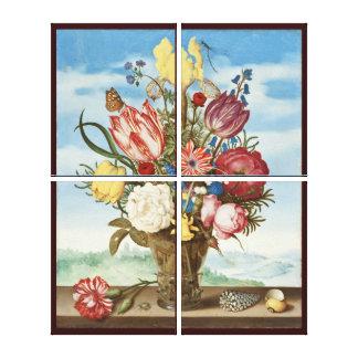 Bouquet by Ambrosius Bosschaert - Circa 1620 Canvas Print