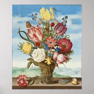 Bouquet by Ambrosius Bosschaert - Circa 1620 Poster