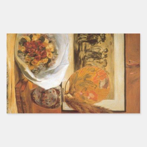 Bouquet by Pierre Renoir Rectangular Sticker