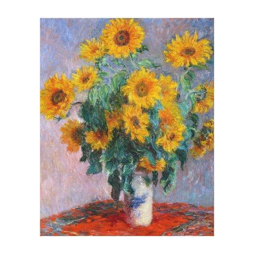 Bouquet de Soleils, por Claude Monet Impresión En Lona Estirada