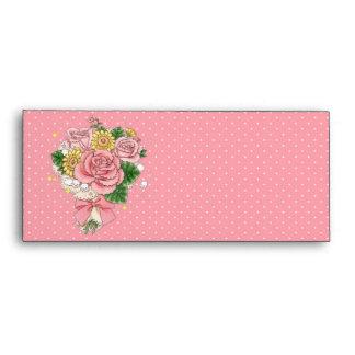 Bouquet envelope #10 (pink)