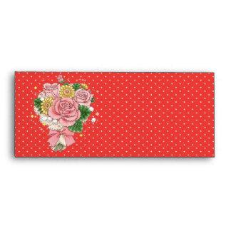 Bouquet envelope #10 (red)