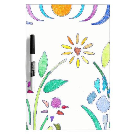 Bouquet Floral Design Dry-Erase Whiteboard