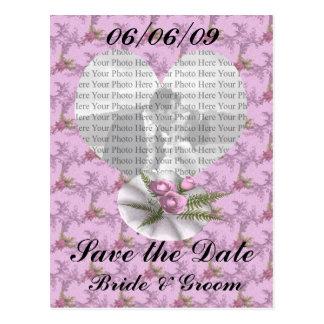 Bouquet Floral Purple Colored Heart Postcard
