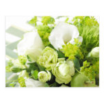 Bouquet from different white seasonal flower