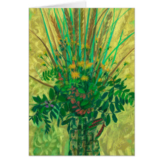 Bouquet from the Finnish Bay, modern floral art Card