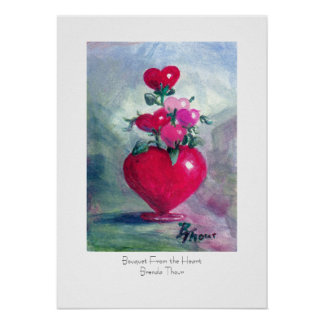 Bouquet From the Heart Poster Print