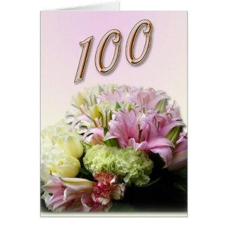 Bouquet Happy 100th Birthday Greeting Card