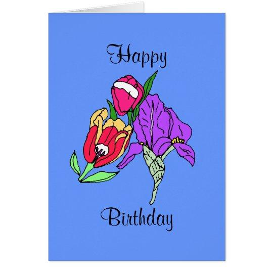 bouquet, Happy, Birthday Card