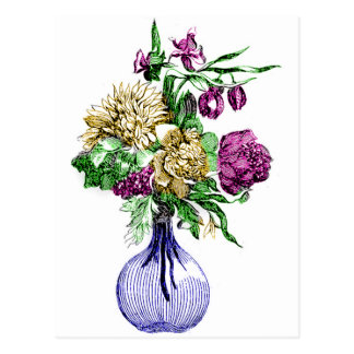 Bouquet in a Glass Vase Postcard