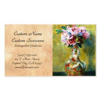 Bouquet in a Vase Pierre Auguste Renoir painting Business Card