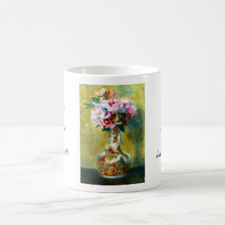 Bouquet in a Vase Pierre Auguste Renoir painting Classic White Coffee Mug