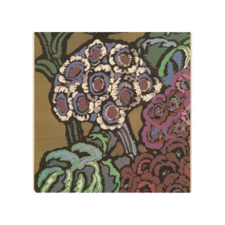 Bouquet in Blue Wood Wall Art