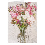 Bouquet in clear vase collection cards