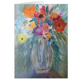 Bouquet in Glass Vase Card