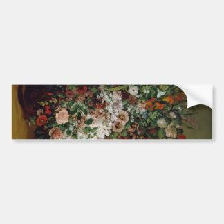 Bouquet in vase bumper sticker