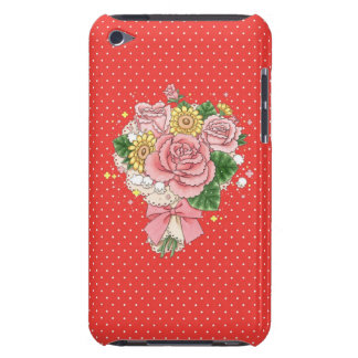 Bouquet iPod Touch case (red)