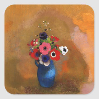 Bouquet of anemones  by Odilon Redon Stickers