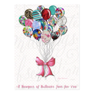 Bouquet of Balloons For You Postcard