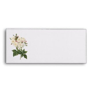 Bouquet of Beautiful White Roses Envelop Envelope
