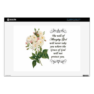Bouquet of Beautiful White Roses Laptop Skin