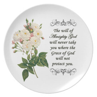 Bouquet of Beautiful White Roses Plate