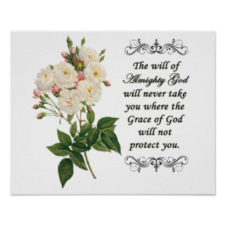 Bouquet of Beautiful White Roses Poster
