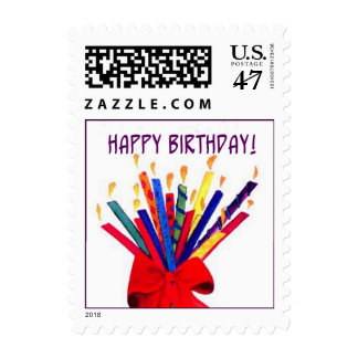 Bouquet of Birthday Candles Postage