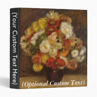Bouquet of Chrysanthemums 3 Ring Binder