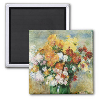 Bouquet of Chrysanthemums, c.1884 2 Inch Square Magnet