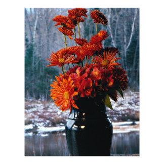 Bouquet of chrysanthemums flyer