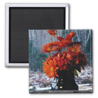 Bouquet of chrysanthemums fridge magnet