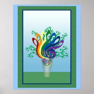 Bouquet of Clefs Print