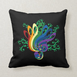 Bouquet of Clefs Throw Pillow