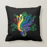 Bouquet of Clefs Throw Pillows