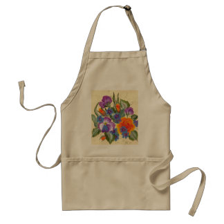 bouquet of colorful flowers apron