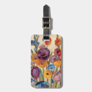 Bouquet of Colorful Flowers Bag Tag