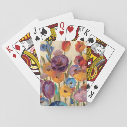Bouquet of Colorful Flowers Poker Cards