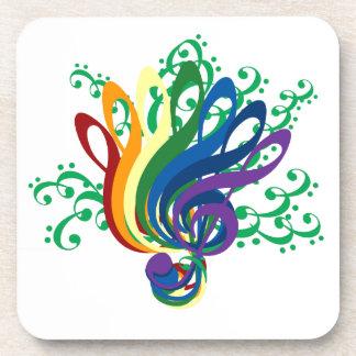 Bouquet of Colorful Music Symbols Coaster