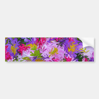 Bouquet of Colors Floral Abstract Art Design Bumper Sticker