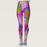 "Bouquet of Colors Floral Abstract Art Design Leggings<br><div class=""desc"">I used an actual photo of a bouquet of flowers as a base,  added the liquefy filter and hand-swirled the image to create this abstract ""Bouquet of Colors"" design.</div>"