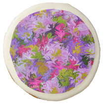 Bouquet of Colors Floral Abstract Art Design Sugar Cookie