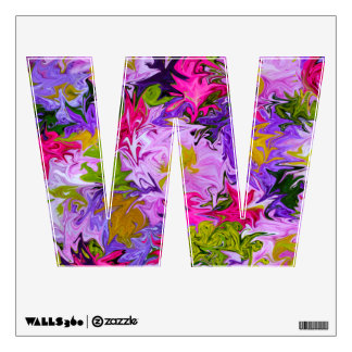 Bouquet of Colors Floral Abstract Art Design W Wall Sticker