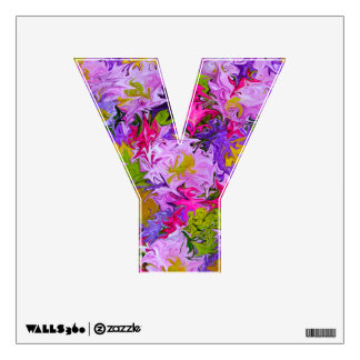 Bouquet of Colors Floral Abstract Art Design Y Wall Decal